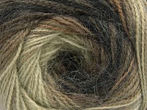 Fiber Content 75% Acrylic, 25% Angora, Khaki, Brand Ice Yarns, Cream, Brown, Yarn Thickness 2 Fine  Sport, Baby, fnt2-58014