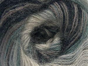 Fiber Content 75% Acrylic, 25% Angora, Brand Ice Yarns, Grey Shades, Yarn Thickness 2 Fine  Sport, Baby, fnt2-58015