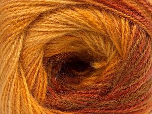 Fiber Content 75% Acrylic, 25% Angora, Yellow, Brand Ice Yarns, Gold, Brown, Yarn Thickness 2 Fine  Sport, Baby, fnt2-58021