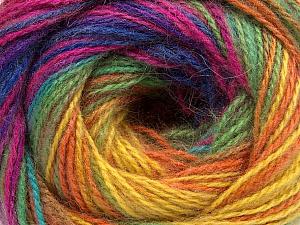 Fiber Content 75% Acrylic, 25% Angora, Rainbow, Brand Ice Yarns, Yarn Thickness 2 Fine  Sport, Baby, fnt2-58022
