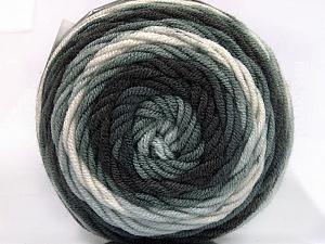 Fiber Content 100% Acrylic, White, Brand Ice Yarns, Grey Shades, Yarn Thickness 4 Medium  Worsted, Afghan, Aran, fnt2-58023