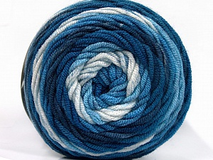 Fiber Content 100% Acrylic, White, Brand Ice Yarns, Blue Shades, Yarn Thickness 4 Medium  Worsted, Afghan, Aran, fnt2-58024
