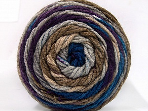 Fiber Content 100% Acrylic, Purple, Brand Ice Yarns, Camel, Blue, Yarn Thickness 4 Medium  Worsted, Afghan, Aran, fnt2-58028