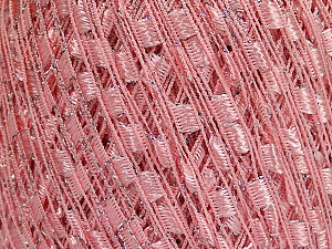 Trellis  Fiber Content 95% Polyester, 5% Lurex, Pink, Brand Ice Yarns, Yarn Thickness 5 Bulky  Chunky, Craft, Rug, fnt2-58132