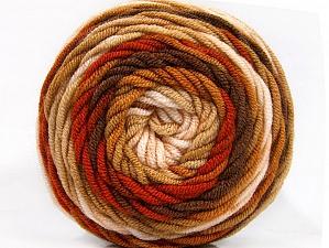 Fiber Content 100% Acrylic, Brand Ice Yarns, Brown Shades, Yarn Thickness 4 Medium  Worsted, Afghan, Aran, fnt2-58135