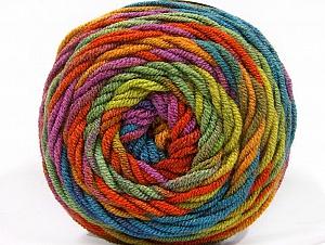 Fiber Content 100% Acrylic, Lilac, Brand Ice Yarns, Green Shades, Copper, Blue, Yarn Thickness 4 Medium  Worsted, Afghan, Aran, fnt2-58136