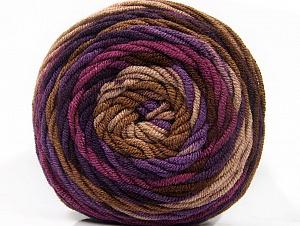Fiber Content 100% Acrylic, Purple Shades, Brand Ice Yarns, Brown Shades, Yarn Thickness 4 Medium  Worsted, Afghan, Aran, fnt2-58138