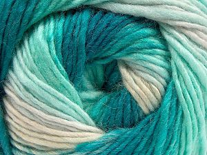Fiber Content 70% Acrylic, 30% Wool, Turquoise Shades, Brand Ice Yarns, Yarn Thickness 3 Light  DK, Light, Worsted, fnt2-58141