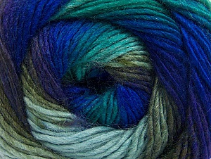Fiber Content 70% Acrylic, 30% Wool, Turquoise, Purple, Khaki, Brand Ice Yarns, Blue, Yarn Thickness 3 Light  DK, Light, Worsted, fnt2-58142