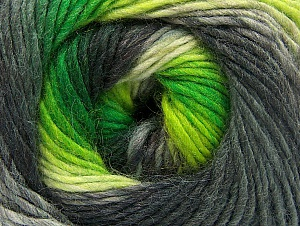 Fiber Content 70% Acrylic, 30% Wool, Neon Green, Brand Ice Yarns, Grey Shades, Yarn Thickness 3 Light  DK, Light, Worsted, fnt2-58143