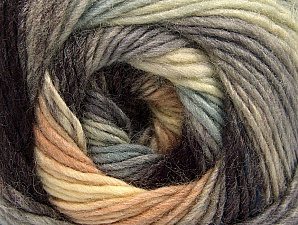 Fiber Content 70% Acrylic, 30% Wool, Brand Ice Yarns, Grey Shades, Cream, Brown, Yarn Thickness 3 Light  DK, Light, Worsted, fnt2-58144