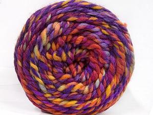 Fiber Content 70% Acrylic, 30% Wool, Yellow, Red, Purple, Orange, Brand Ice Yarns, Yarn Thickness 6 SuperBulky Bulky, Roving, fnt2-58153