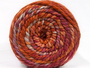 Fiber Content 70% Acrylic, 30% Wool, Orchid, Orange, Light Blue, Brand Ice Yarns, Copper, Yarn Thickness 6 SuperBulky Bulky, Roving, fnt2-58154