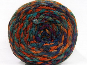 Fiber Content 70% Acrylic, 30% Wool, Purple, Brand Ice Yarns, Green Shades, Copper, Yarn Thickness 6 SuperBulky Bulky, Roving, fnt2-58155