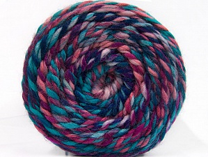 Fiber Content 70% Acrylic, 30% Wool, Turquoise, Purple, Pink, Lavender, Brand Ice Yarns, Yarn Thickness 6 SuperBulky Bulky, Roving, fnt2-58157
