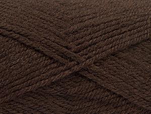 Fiber Content 50% Wool, 50% Acrylic, Brand Ice Yarns, Dark Brown, Yarn Thickness 4 Medium  Worsted, Afghan, Aran, fnt2-58182