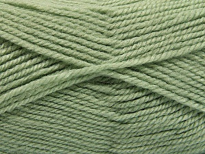 Fiber Content 50% Wool, 50% Acrylic, Light Green, Brand Ice Yarns, Yarn Thickness 4 Medium  Worsted, Afghan, Aran, fnt2-58187