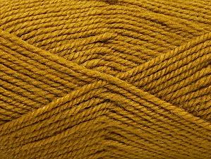 Fiber Content 50% Wool, 50% Acrylic, Olive Green, Brand Ice Yarns, Yarn Thickness 4 Medium  Worsted, Afghan, Aran, fnt2-58188
