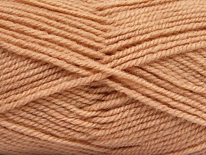 Fiber Content 50% Wool, 50% Acrylic, Light Salmon, Brand Ice Yarns, Yarn Thickness 4 Medium  Worsted, Afghan, Aran, fnt2-58189
