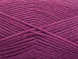 Fiber Content 50% Wool, 50% Acrylic, Orchid, Brand Ice Yarns, Yarn Thickness 4 Medium  Worsted, Afghan, Aran, fnt2-58191