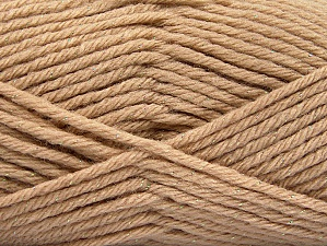 Fiber Content 72% Premium Acrylic, 3% Metallic Lurex, 25% Wool, Brand Ice Yarns, Gold, Beige, Yarn Thickness 5 Bulky  Chunky, Craft, Rug, fnt2-58198