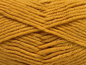 Fiber Content 72% Premium Acrylic, 3% Metallic Lurex, 25% Wool, Brand Ice Yarns, Gold, Yarn Thickness 5 Bulky  Chunky, Craft, Rug, fnt2-58200