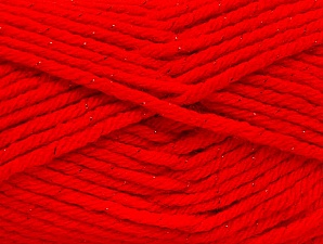 Fiber Content 72% Premium Acrylic, 3% Metallic Lurex, 25% Wool, Red, Brand Ice Yarns, Yarn Thickness 5 Bulky  Chunky, Craft, Rug, fnt2-58207