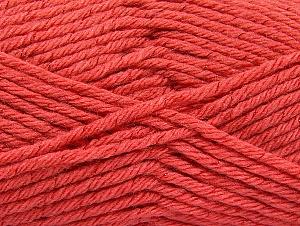 Fiber Content 72% Premium Acrylic, 3% Metallic Lurex, 25% Wool, Salmon, Brand Ice Yarns, Yarn Thickness 5 Bulky  Chunky, Craft, Rug, fnt2-58208