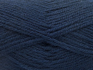 Fiber Content 50% Wool, 50% Acrylic, Navy, Brand Ice Yarns, Yarn Thickness 4 Medium  Worsted, Afghan, Aran, fnt2-58227