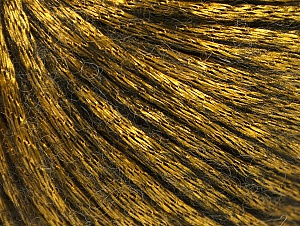 Fiber Content 70% Polyamide, 19% Merino Wool, 11% Acrylic, Brand Ice Yarns, Gold, Black, Yarn Thickness 4 Medium  Worsted, Afghan, Aran, fnt2-58237