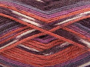 Fiber Content 50% Wool, 50% Acrylic, Maroon, Lilac Shades, Brand Ice Yarns, Cafe Latte, Yarn Thickness 4 Medium  Worsted, Afghan, Aran, fnt2-58281