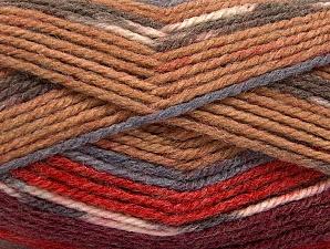 Fiber Content 50% Wool, 50% Acrylic, Red, Brand Ice Yarns, Grey, Camel, Burgundy, Yarn Thickness 4 Medium  Worsted, Afghan, Aran, fnt2-58282