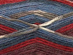 Fiber Content 50% Wool, 50% Acrylic, Red, Khaki, Brand Ice Yarns, Burgundy, Blue Shades, Yarn Thickness 4 Medium  Worsted, Afghan, Aran, fnt2-58283