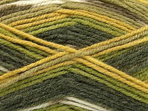Fiber Content 50% Acrylic, 50% Wool, Brand Ice Yarns, Green Shades, Yarn Thickness 4 Medium  Worsted, Afghan, Aran, fnt2-58286