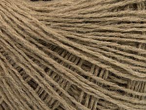 Fiber Content 50% Wool, 50% Acrylic, Brand Ice Yarns, Beige, Yarn Thickness 2 Fine  Sport, Baby, fnt2-58294