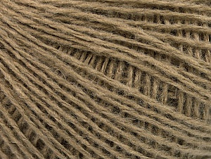 Fiber Content 50% Wool, 50% Acrylic, Brand Ice Yarns, Dark Camel, Yarn Thickness 2 Fine  Sport, Baby, fnt2-58295