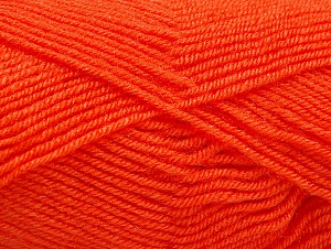 Fiber Content 60% Acrylic, 40% Wool, Orange, Brand Ice Yarns, Yarn Thickness 3 Light  DK, Light, Worsted, fnt2-58335