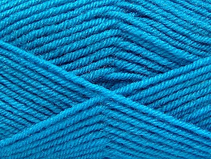 Fiber Content 60% Acrylic, 40% Wool, Turquoise, Brand Ice Yarns, Yarn Thickness 3 Light  DK, Light, Worsted, fnt2-58343
