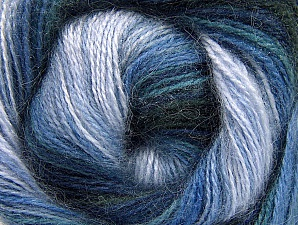 Fiber Content 50% Acrylic, 50% Mohair, Navy, Lilac Shades, Brand Ice Yarns, Blue Shades, Yarn Thickness 2 Fine  Sport, Baby, fnt2-58362
