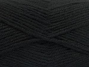 Fiber Content 50% Wool, 50% Acrylic, Brand ICE, Black, Yarn Thickness 4 Medium Worsted, Afghan, Aran, fnt2-58366
