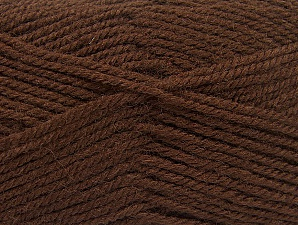 Fiber Content 50% Wool, 50% Acrylic, Brand Ice Yarns, Brown, Yarn Thickness 4 Medium  Worsted, Afghan, Aran, fnt2-58369