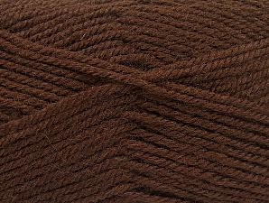 Fiber Content 50% Acrylic, 50% Wool, Brand Ice Yarns, Brown, Yarn Thickness 4 Medium Worsted, Afghan, Aran, fnt2-58369