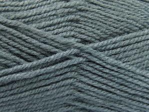 Fiber Content 50% Acrylic, 50% Wool, Brand Ice Yarns, Grey, Yarn Thickness 4 Medium  Worsted, Afghan, Aran, fnt2-58372