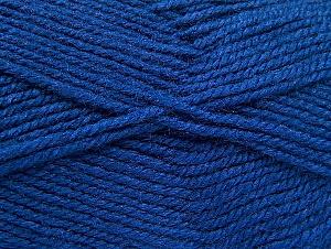 Fiber Content 50% Acrylic, 50% Wool, Brand Ice Yarns, Dark Blue, Yarn Thickness 4 Medium  Worsted, Afghan, Aran, fnt2-58373