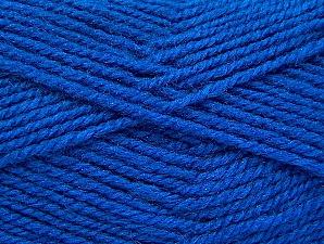 Fiber Content 50% Acrylic, 50% Wool, Brand Ice Yarns, Blue, Yarn Thickness 4 Medium Worsted, Afghan, Aran, fnt2-58374