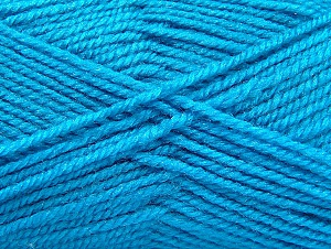 Fiber Content 50% Wool, 50% Acrylic, Turquoise, Brand Ice Yarns, Yarn Thickness 4 Medium  Worsted, Afghan, Aran, fnt2-58375