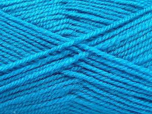 Fiber Content 50% Acrylic, 50% Wool, Turquoise, Brand Ice Yarns, Yarn Thickness 4 Medium Worsted, Afghan, Aran, fnt2-58375