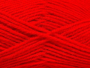 Fiber Content 50% Wool, 50% Acrylic, Red, Brand Ice Yarns, Yarn Thickness 4 Medium  Worsted, Afghan, Aran, fnt2-58376