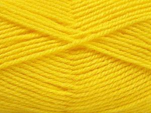 Fiber Content 50% Wool, 50% Acrylic, Yellow, Brand Ice Yarns, Yarn Thickness 4 Medium Worsted, Afghan, Aran, fnt2-58378