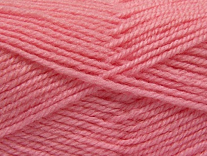Fiber Content 50% Acrylic, 50% Wool, Light Pink, Brand Ice Yarns, Yarn Thickness 4 Medium  Worsted, Afghan, Aran, fnt2-58379